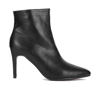 bbee8098e0f Onlineshoe Women s Stiletto Heel Pointed Toe Ankle Boots UK3 - EU36 - US5 -  AU4 Black