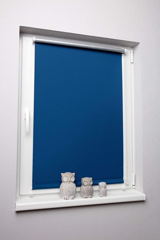 Azul 60 x 150 cm sin Agujeros DKL – Estor Enrollable Pinza