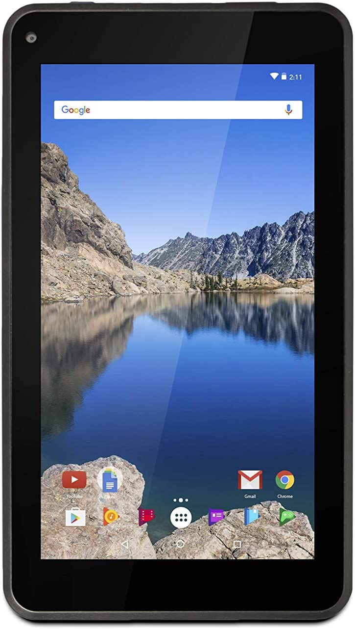 Ematic 7-Inch Android 7.1 (Nougat), Quad-Core 16GB Tablet with Folio Case and Headphones, Blue 81LvMsncaeL