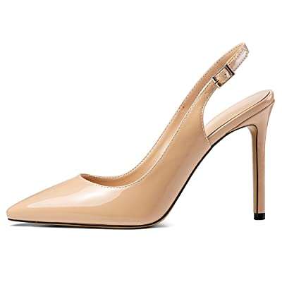 Mettesally Women's Slingback Pumps Stiletto Heels Party Office Dress Shoes | Pumps
