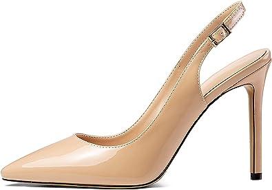 Escarpins Bride Arriere Femme Mettesally 100mm Aiguille Chaussures Escarpins Femme