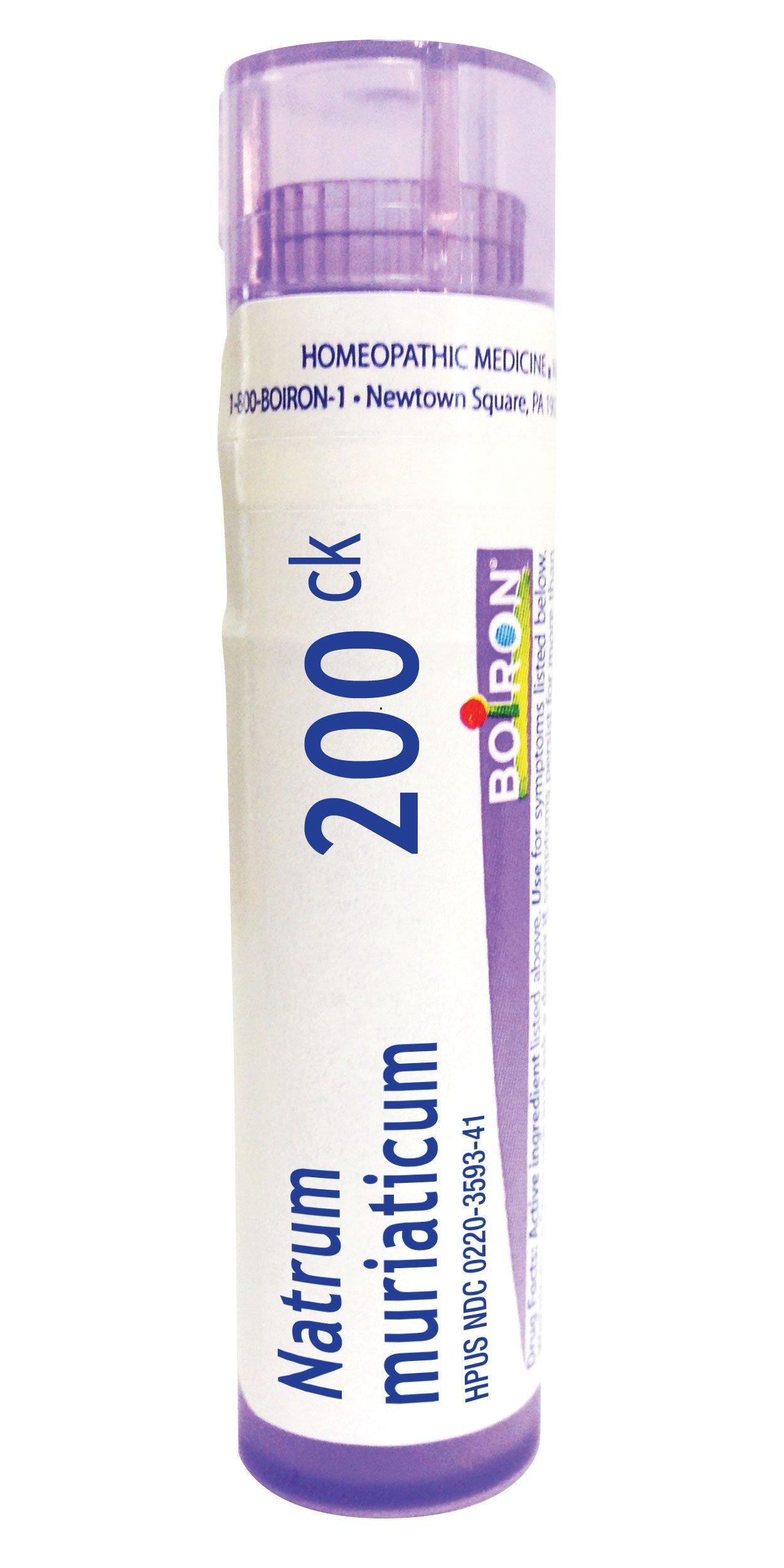 Boiron Natrum Muriaticum 200C, 80 Pellets, Homeopathic Medicine Runny Nose