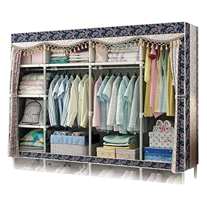 GUHAIBO Fabric Wardrobe Storage,Cloth Wardrobe Closet,Closet Storage  Organizer Hanging,Quick And