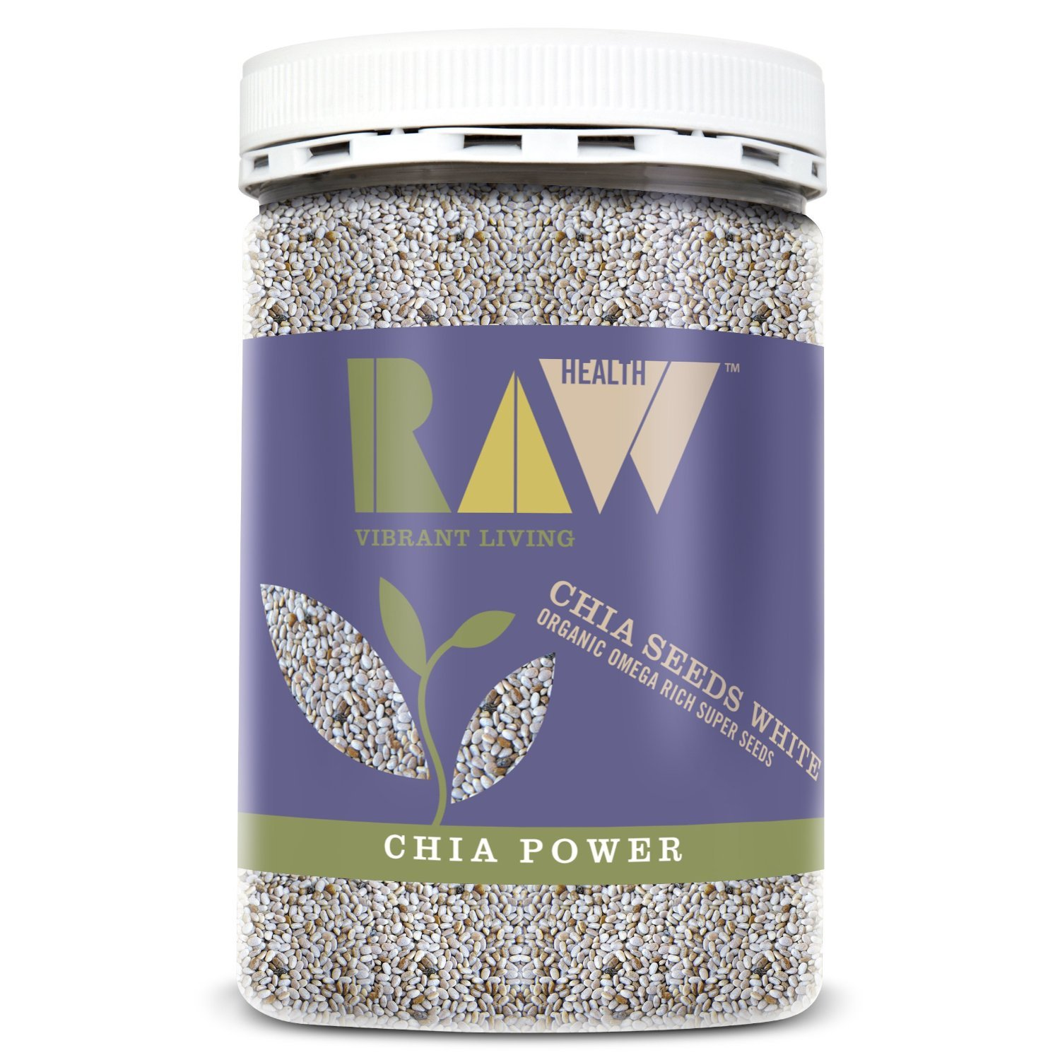 Raw Health Organic White Chia Seeds 450 G: Amazon.es ...