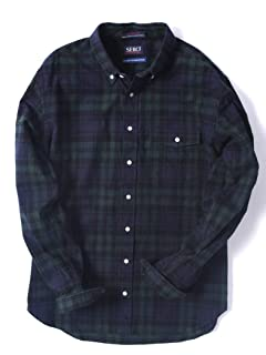 Flannel Buttondown Shirt 121-13-0082: Olive