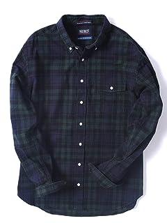 Flannel Buttondown Shirt 121-13-0082: Olive
