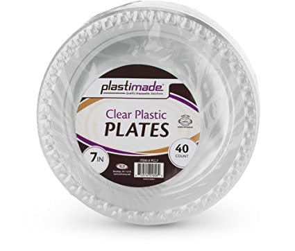 Plastimade Clear Plastic Plates 7 Inch Pack of 40  sc 1 st  Amazon.com & Amazon.com: Plastimade Clear Plastic Plates 7 Inch Pack of 40 ...