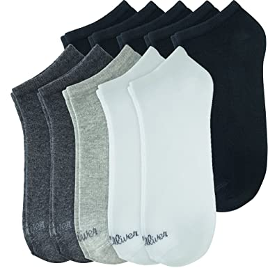 s.Oliver Sneaker Socken im 10er-Pack, weiß-grau schwarz, 987e40dc5f