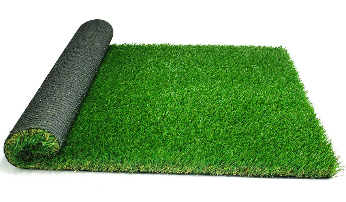 kaizein Artificial Grass Fake Grass Carpet Outdoor Rugs for Dogs Synthetic Turf Landscape 4-Tone Height 1.5''