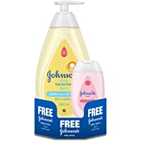 Johnson's Baby Top to Toe Wash, 500ml with Free Baby Lotion, 100ml