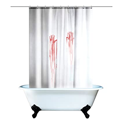Amazon Spinning Hat Blood Bath Shower Curtain Home Kitchen