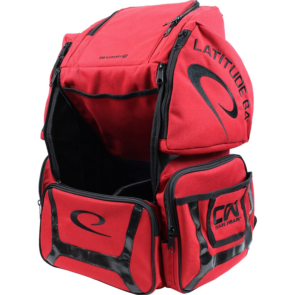 Latitude 64 DG Luxury E2 Backpack Disc Golf Bag Red/Black by Latitude 64