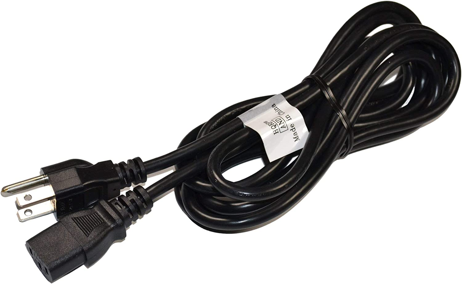 5FT Huetron Short Power Cord for Vizio Gallevia GV47L LCD TV with Life Time Warranty