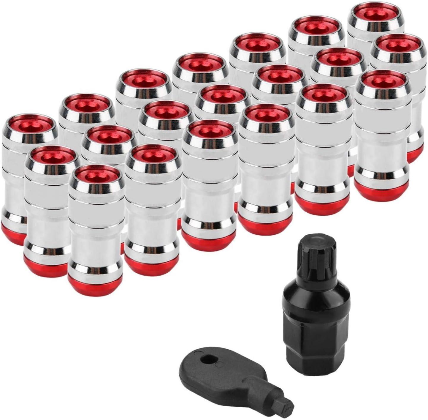 Vite per pneumatici auto Rosso Akozonm Vite dadi ruota per auto da corsa per la maggior parte delle ruote aftermarket