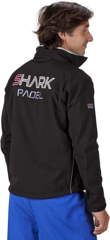 Shark Padel SH1009 Chaqueta Soft Shell Hombre Transpirable Cortaviento Impermeable