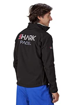 Chaqueta Soft Shell transpirable cortaviento impermeable Shark Padel (negro, M): Amazon.es: Deportes y aire libre