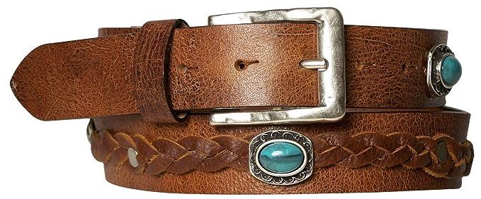 5f984bdaa71 Fronhofer superbe ceinture pour femme ceinture cloutée style bohême à clous  turquoises