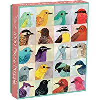 "Galison Avian Friends 1000 Piece Puzzle – Finished Puzzle Measures 20"" x 27"" and Features 20 Fine Art Bird Illustrations"