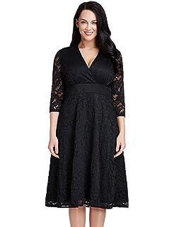 107dbe8a85e6 Lookbook Store Women's Plus Size Lace Bridal Formal Skater Dress 12W-32W