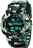 Emartos Army Green Digital Black Dial Sports Men's and Boy Watch