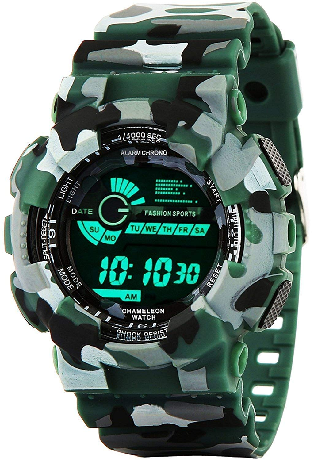 Emartos Army Green Digital Black Dial Sports Men's and Boy Watch product image