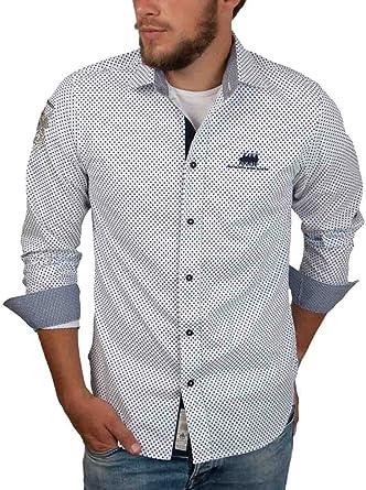 van Santen en van Santen - Camisa casual - Lunares - para hombre Weiß XXL: Amazon.es: Ropa y accesorios
