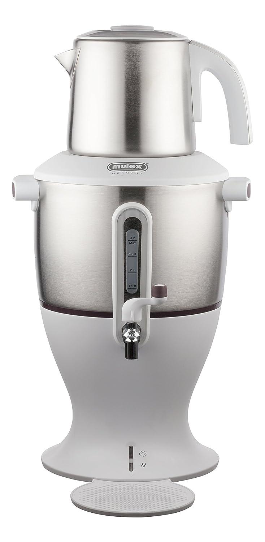 Mulex 290096di tè e bollitore elettrico, Acciaio Inossidabile, Bianco, 45x 24x 24cm 45x 24x 24cm