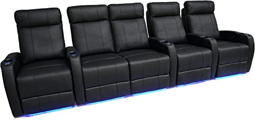 Valencia Syracuse Home Theater Seating Premium Top Grain 9000 Leather