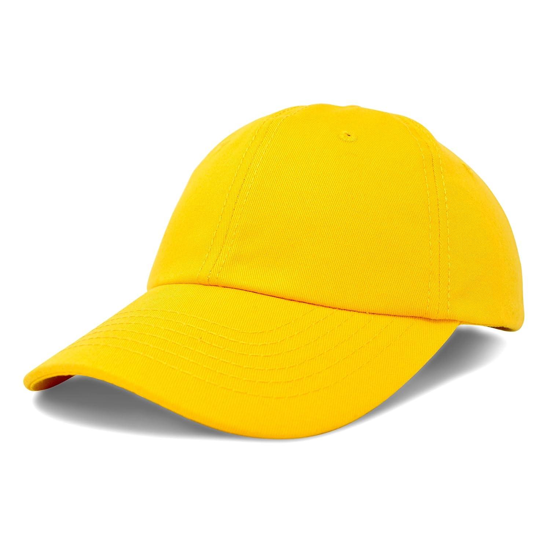 DALIX Unisex Unstructured Cotton Cap Adjustable Plain Hat Dad Cap Black H-201-Black