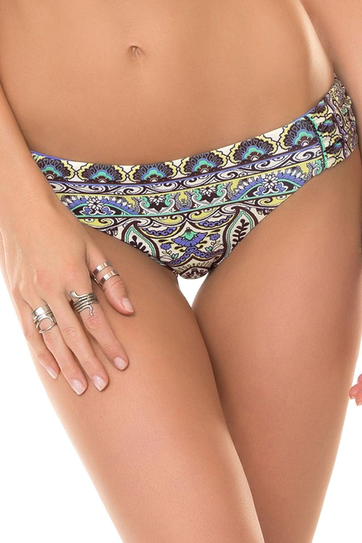 Becca by Rebecca VirtueレディースFestival Tab Side Hipster Bikini Bottom B00UIK91BQ Small|マルチ