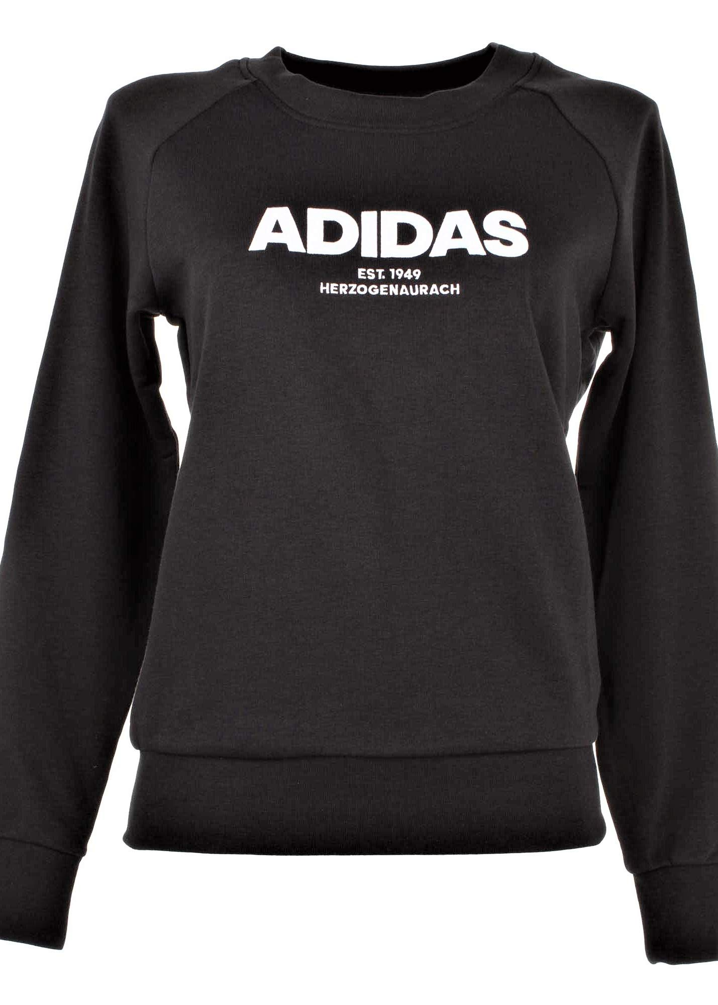 adidas Women Sweatshirts All Cap Running Black Fashion Training Gym CZ5690 New (M) by adidas