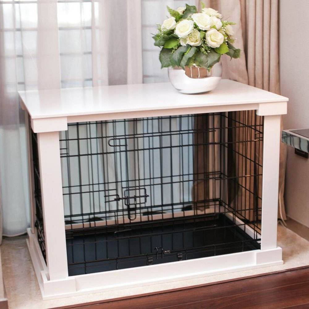 Merry Products End Table Pet Crate with Cage Cover