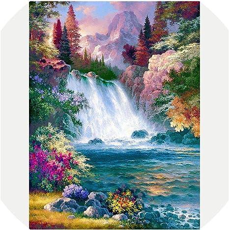 5D Diamond Painting Waterfall Landscape Embroidery Cross Stitch Kits Art Decor
