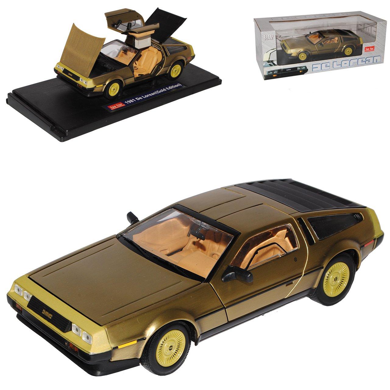 Sun Star Delorean DMC Coupe Gold aus Zurück in die Zukunft Back to The Future 1 18 Modell Auto B072NF7CLK Motorfahrzeuge Förderung  | Auf Verkauf