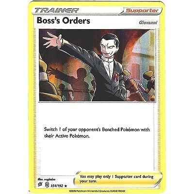 Boss's Orders 154/192 - Ultra Rare - Pokemon Sword and Shield Rebel Clash: Toys & Games
