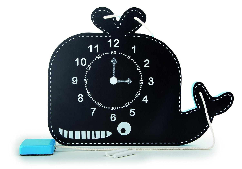 Small Foot 10323 Whale Teaching Clock and Blackboard
