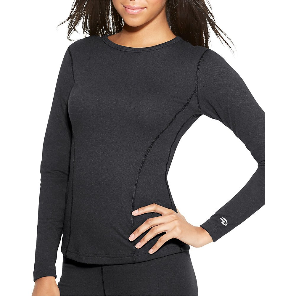 Duofold Women's Heavy Weight Double Layer Thermal Shirt, Black, Large