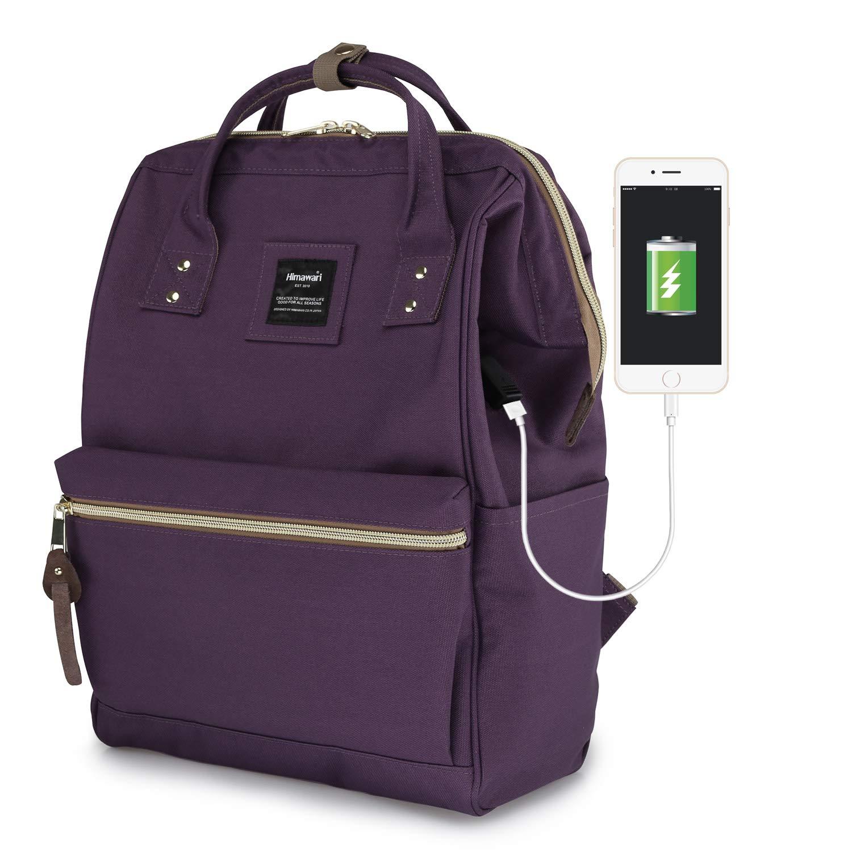Himawari Laptop Backpack Travel Backpack With USB Charging Port Large Diaper Bag Doctor Bag School Backpack for Women&Men