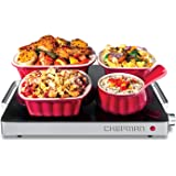 Chefman Compact Glasstop Warming Tray with Adjustable Temperature Control Perfect for Buffets, Restaurants, Parties…