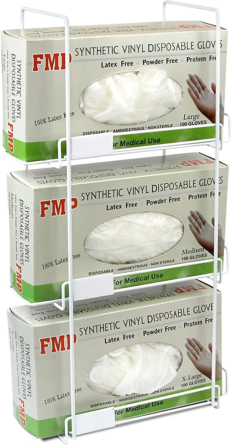 Very popular FMP Brands Triple Wall Mount Today's only Glove Wire 3 Dispenser Rack Tissue