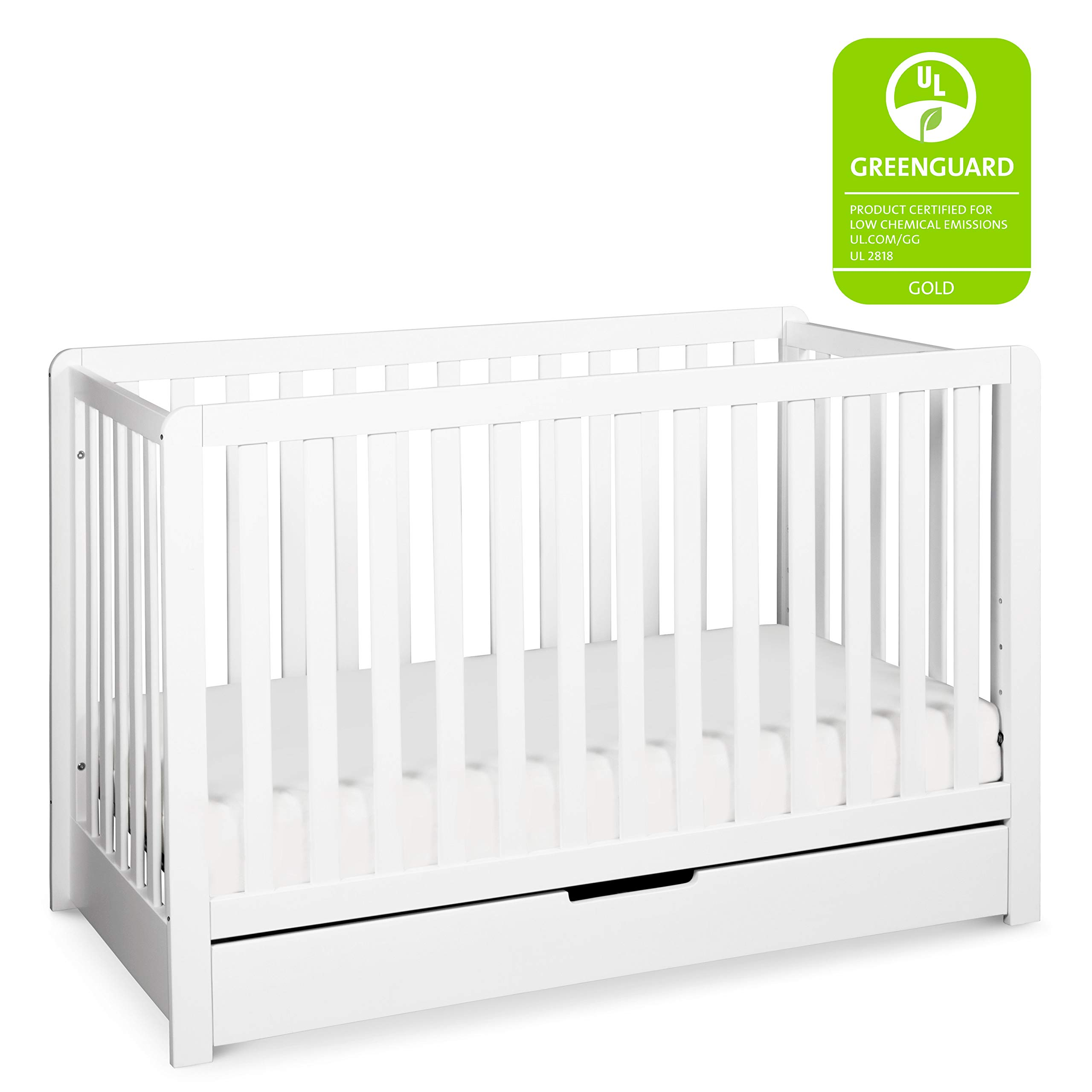 Carter's by Davinci Colby 4-in-1 Convertible Crib with Trundle Drawer in White | Greenguard Gold Certified by CARTER'S BY DAVINCI