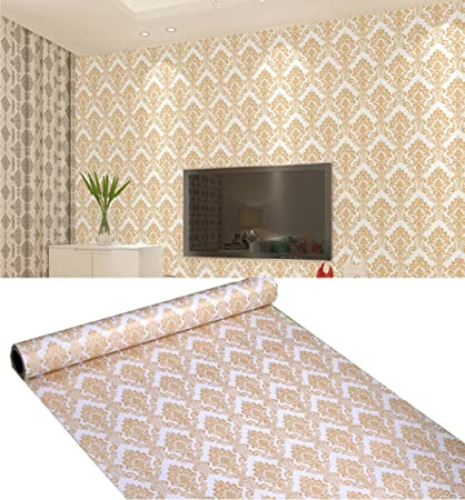 Removable Peel And Stick Victorian Wallpaper Mural Roll Self Adhesive Vinyl Damask Contact Paper For Walls