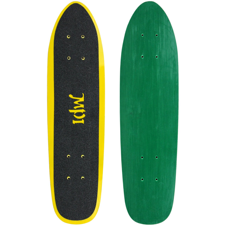 Multicolor MPI Vintage Nos 1970S Old School Kicktail Cruiser Skateboard Complete 6.5 inch x 25