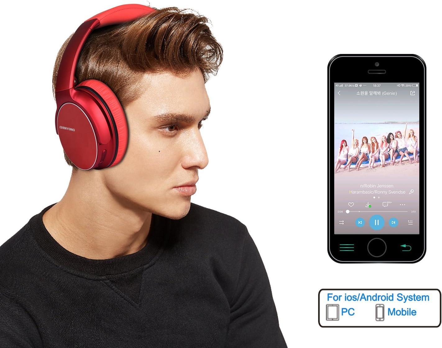 Wireless Bluetooth Headphone,Headset with Microphone,Over-Ear Earphone,Deep bass Stereo-Silver