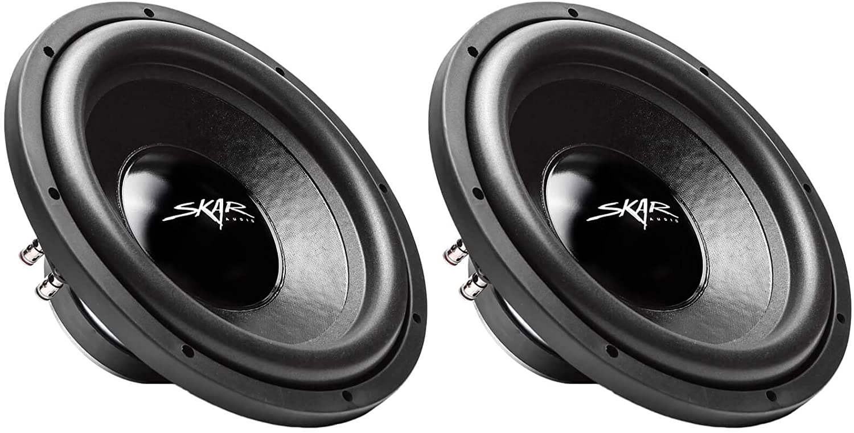 "(2) Skar Audio iX-12 D2 12"" 500W Max Power Dual 2 Ohm Car Subwoofers, Pair of 2, (2) IX-12 D2"