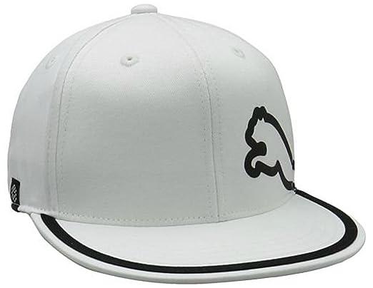 444a72c32a1 Puma Men s Monoline Premium 210 Flat Brim Fitted Golf Cap White Size 7.1 4