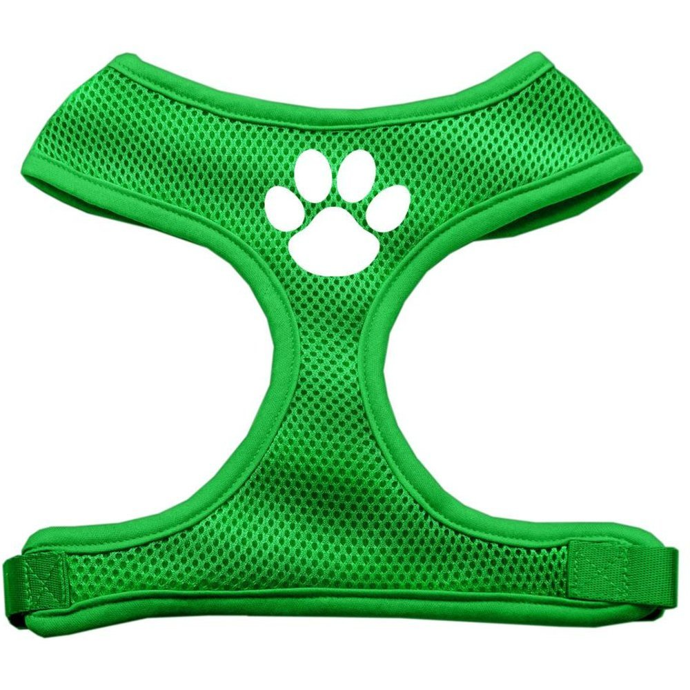 Mirage Pet Products Paw Design Soft Mesh Dog Harnesses, Large, Emerald Green