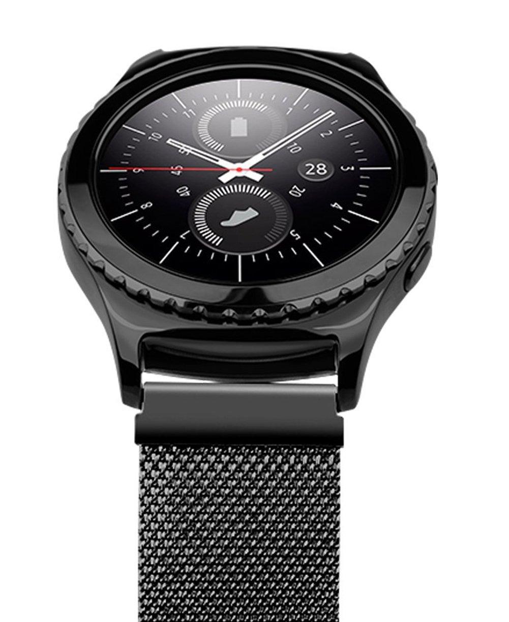 sundaree Gear S2 Classic Bracelet/Galaxy Watch 42MM Bracelet,20MM Bracelet Montre Remplacement Bande de Poignet en Magnétique Milanese pour Samsung Gear S2 ...
