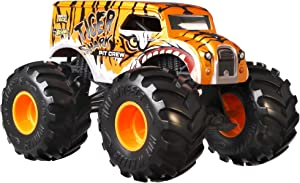 Hot Wheels Monster Trucks 1:24 Scale Assortment, Tiger Shark Pit Crew