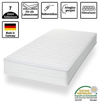 7 Zonen Memoryelastische Hydrocell Premium Kaltschaum Komfort Matratze 90x200 H3